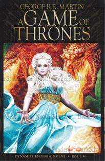 """Daenarys two Dragon's"" The Game of Thrones #6, sketch cover"