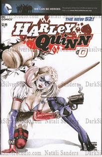 """Harley Quinn with mallot""  Harley Quinn new 52 #0, sketch opp cover"
