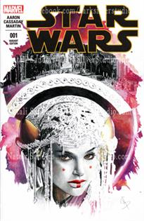 """Queen Amidala, right""  Star Wars #1, sketch cover"