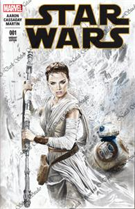 """Rey"" Star Wars #001 sketch cover"