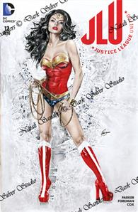 """Wonder Woman the Goddess"" Justice League #1, sketch cover"