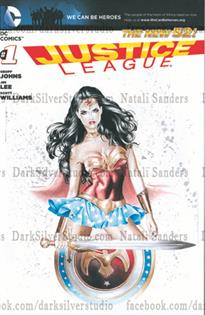 """Wonder Woman"" Justice League, new 52 #1, sketch opp cover"
